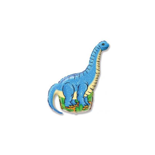 diplodocus bleu mylar air 41 cm