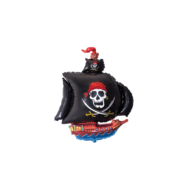 mini Bateau pirate noir ballon mylar