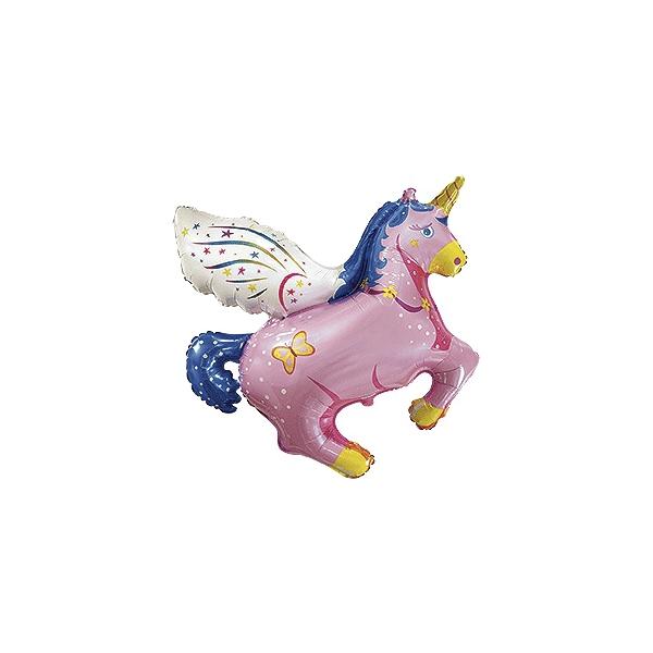mini licorne rose 40cm vendu non gonflé
