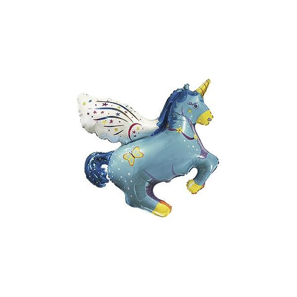 mini licorne bleu 40 cm vendu non gonflé