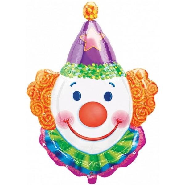 Clown mini ballon mylar air vendu non gonflé sur tige