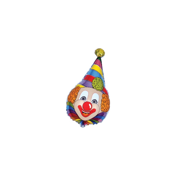 clown chapeau pointu mylar 40 cm