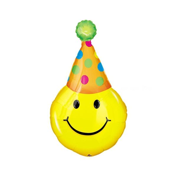 Clown smile mini ballon mylar air vendu non gonflé avec tige