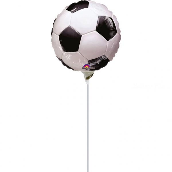 mini ballon foot disque plat 40 avec tige vendu non gonflé