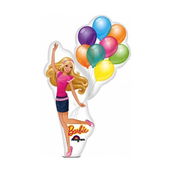Barbie ballons mini mylar air vendu non gonflé avec tige