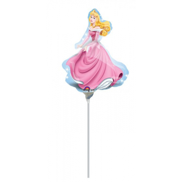Belle aux bois dormant Aurora ballons mini mylar air vendu non gonflé avec tige