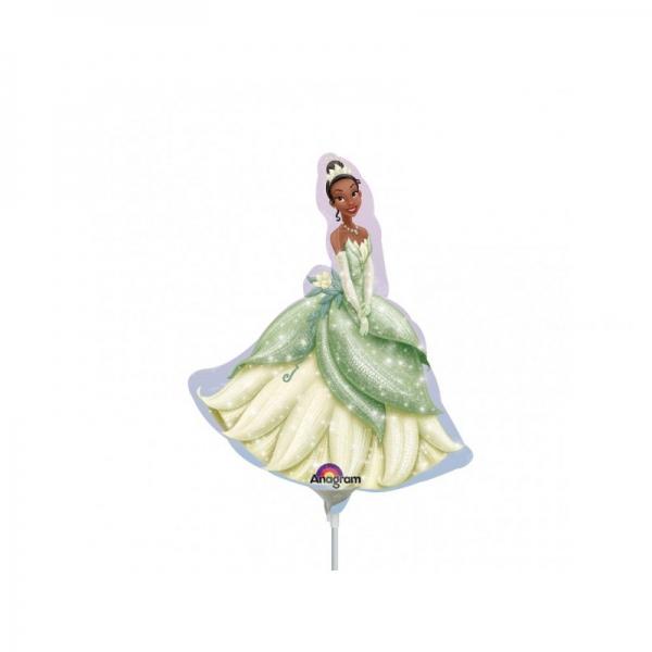 Princesse Tiana ballons mini mylar air vendu non gonflé avec tige