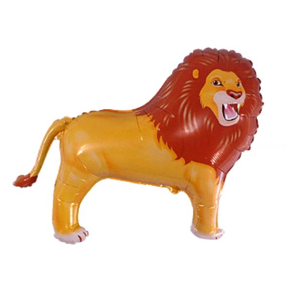 Lion ballon mylar 40 cm non gonflé