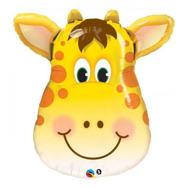 Tête de girafe 36 cm ballon mylar non gonflé