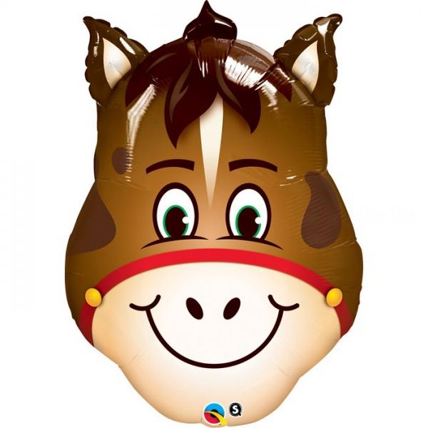 Tête de cheval 36 cm ballon mylar non gonflé